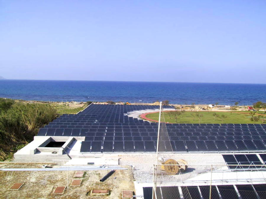 Greece solar field
